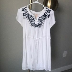 White and embroidered dress